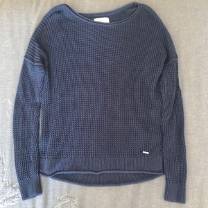 Hollister Knit Navy Sweater